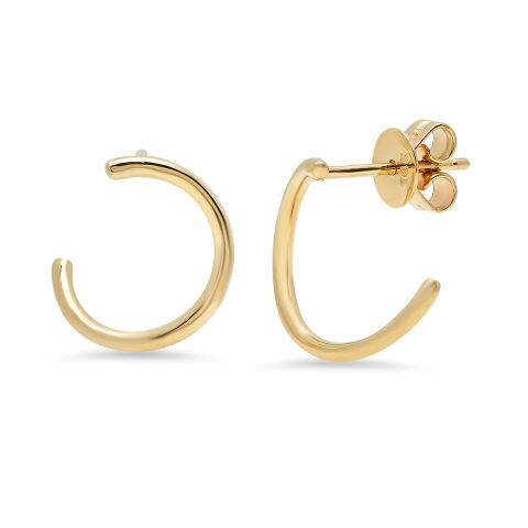 circle loop stud dainty classic 14K yellow gold sachi jewelry