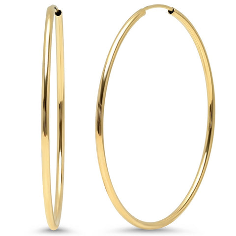 delicate infinity hoops classic earrings 14K yellow gold sachi fine jewelry
