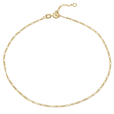 figaro anklet 14K solid gold dainty delicate sachi fine jewelry