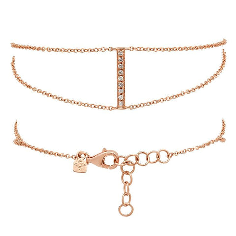 Double Chain Bar Bracelet