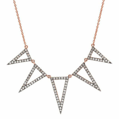 Five Open Triangle Necklace