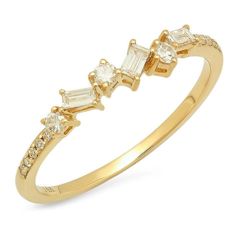 baguette stick diamond band delicate dainty sachi fine jewelry 14k gold jewelry stacking rings