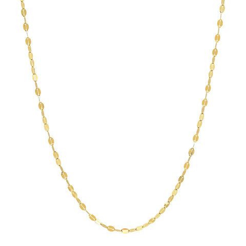 twisted mirror chain necklace 14K yellow gold sachi jewelry