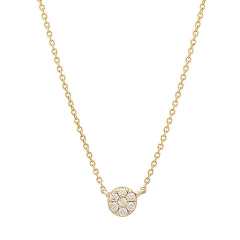 delicate dainty floating diamond necklace 14K yellow gold necklace