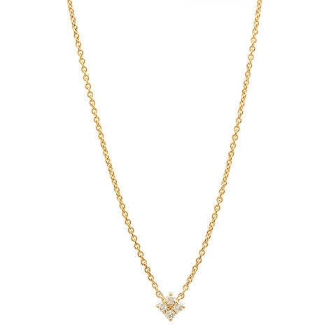 ellie diamond floating necklace dainty 14K yellow gold sachi jewelry