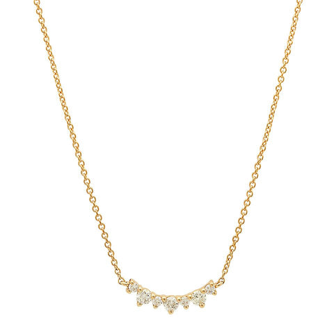 diana diamond necklace crown 14K yellow gold sachi jewelry