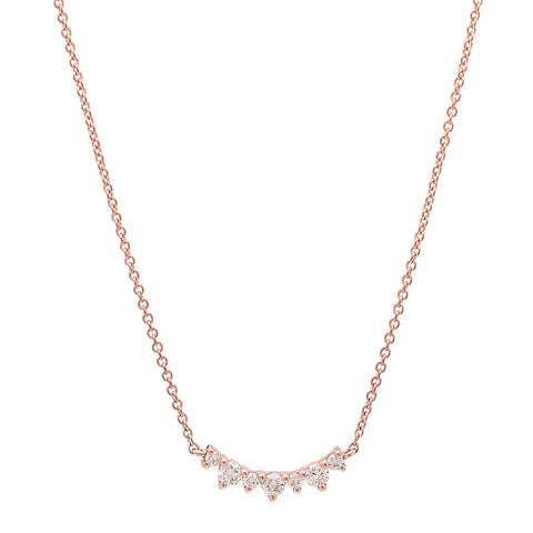 diana diamond necklace crown rose gold sachi jewelry
