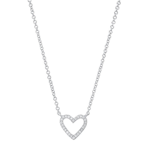 Sachi Jewelry open heart diamond necklace 14k gold
