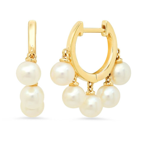 Pearl Dangle Huggies