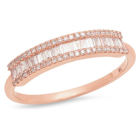 baguette diamond segment band 14k gold delicate dainty micro pave sachi ring jewelry