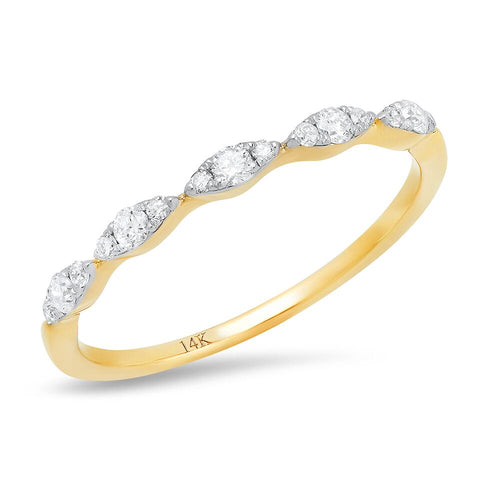 Marquise Diamond Stacking Band Sachi fine jewelry Petite Dainty Ring
