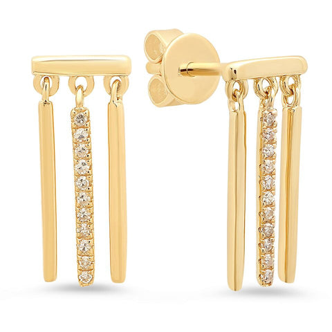 Triple Bar Dangle Earrings