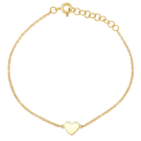 14K solid gold heart bracelet sachi fine jewelry sweet stacking