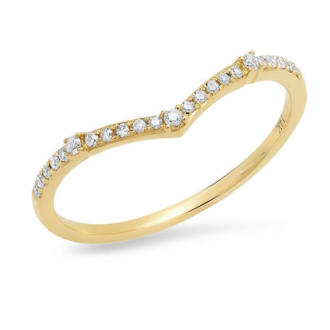 chevron station pave diamonds ring delicate dainty stacking ring sachi jewelry
