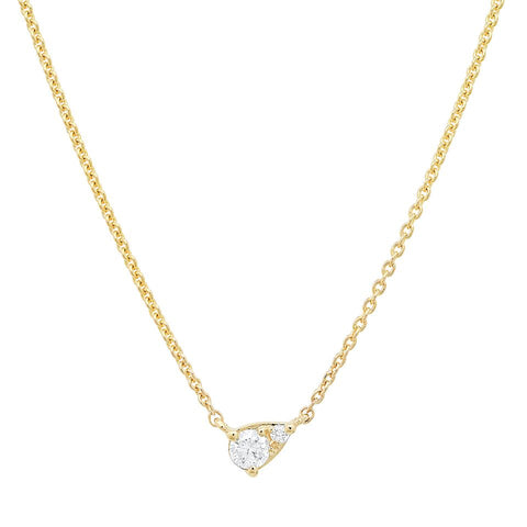 14K gold diamond solitaire necklace sachi fine jewelry modern classic