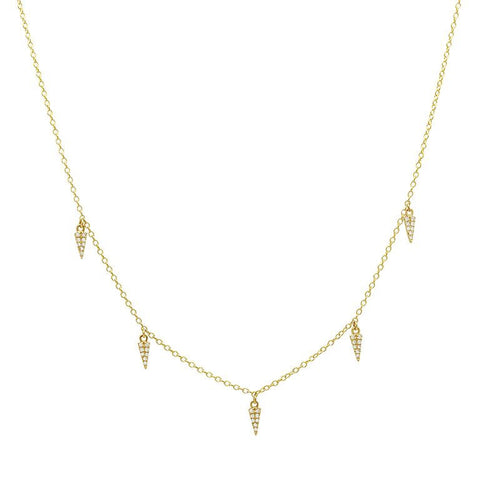 Mini Daggers Drop Necklace