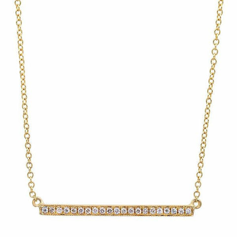 diamond bar pave dainty delicate 14k gold sachi necklace jewelry