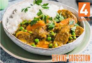 Curried Sausages 1lt or 500ml tub  (GF, DF)