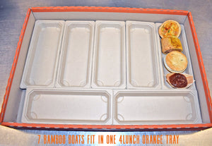 Individual Hot Finger Food - Bamboo Trays