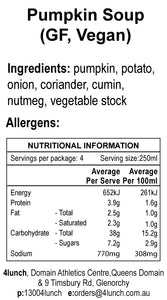 Soup Pumpkin 1lt or 500ml tub  (GF, Vegan)