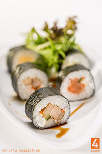 Sushi - available from 10.30am