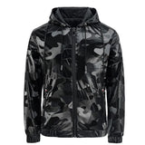 Leather Jacket 2021 Spring and Autumn New Men's Camouflage Hooded Zipper Pocket Slim Casual Men's Leather Jacket