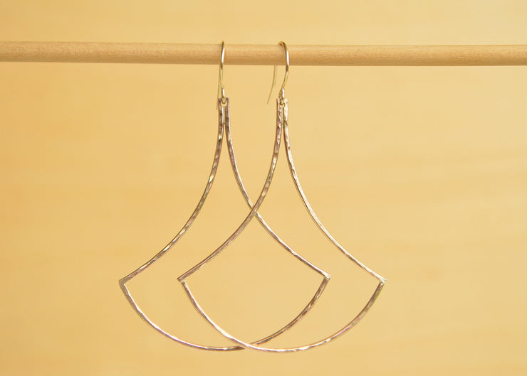 Large Scale Earring - Gold or Silver - Yay Hawaii