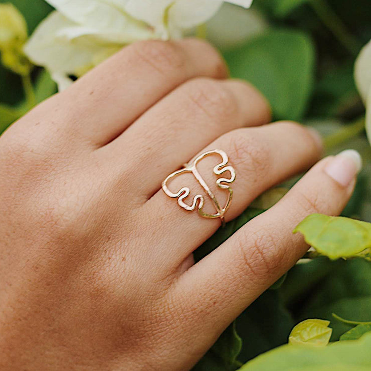 Set (Thin) - Monstera and  Stacking Rings - Yay Hawaii