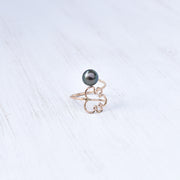 Monstera Bypass Pearl Ring - Tahitian or Freshwater Pearl - Yay Hawaii
