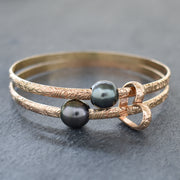 Keiki - 4mm Hawaiian Heirloom Style Bracelet with Tahitian Pearl - Yay Hawaii
