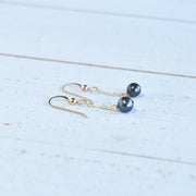 Dainty 8mm Single Dangling Pearl Earring - Yay Hawaii