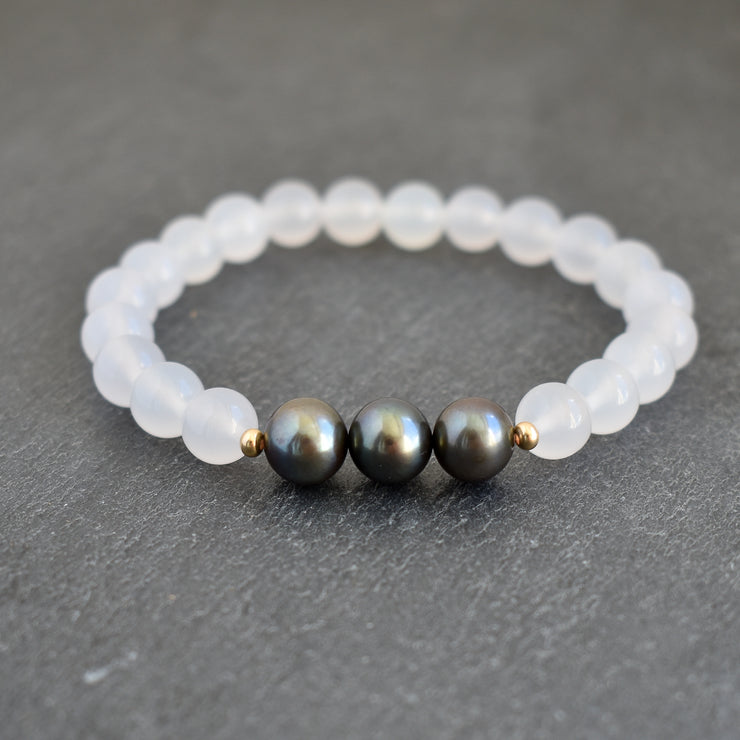 Keiki - White Freshwater Pearl Bangle - Yay Hawaii