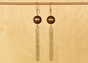Brown Pearl Tassel Earrings - Yay Hawaii
