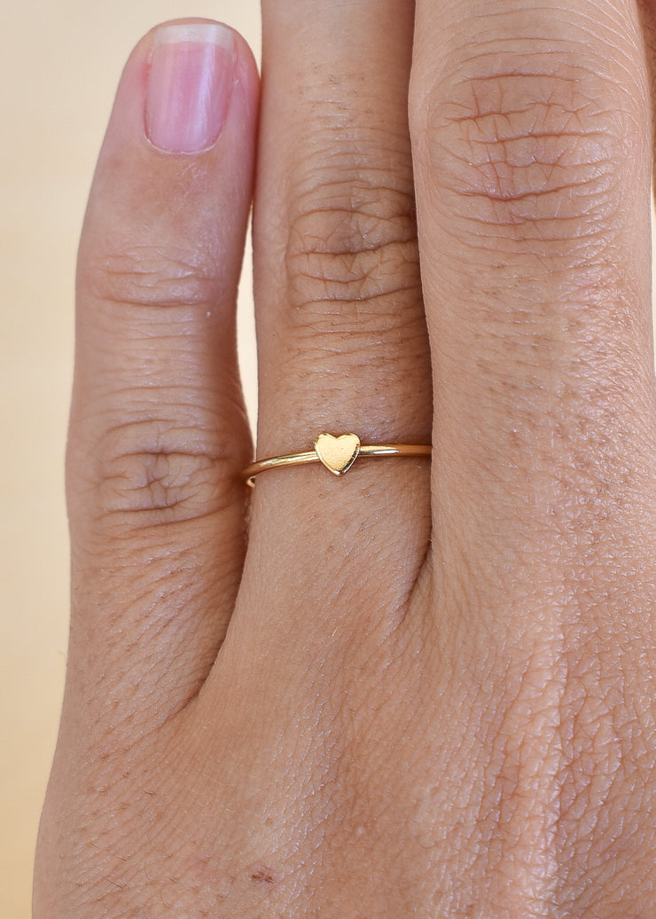Tiny Heart Stacking Ring - Yay Hawaii