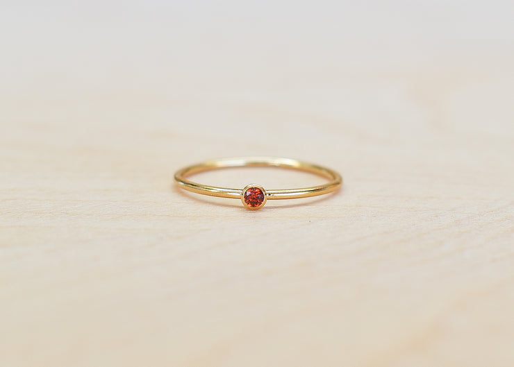 CZ Dark Red Colored Stacking Ring - Yay Hawaii