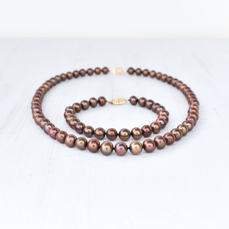 Rare Color! Chocolate Pearl Bracelet - Yay Hawaii