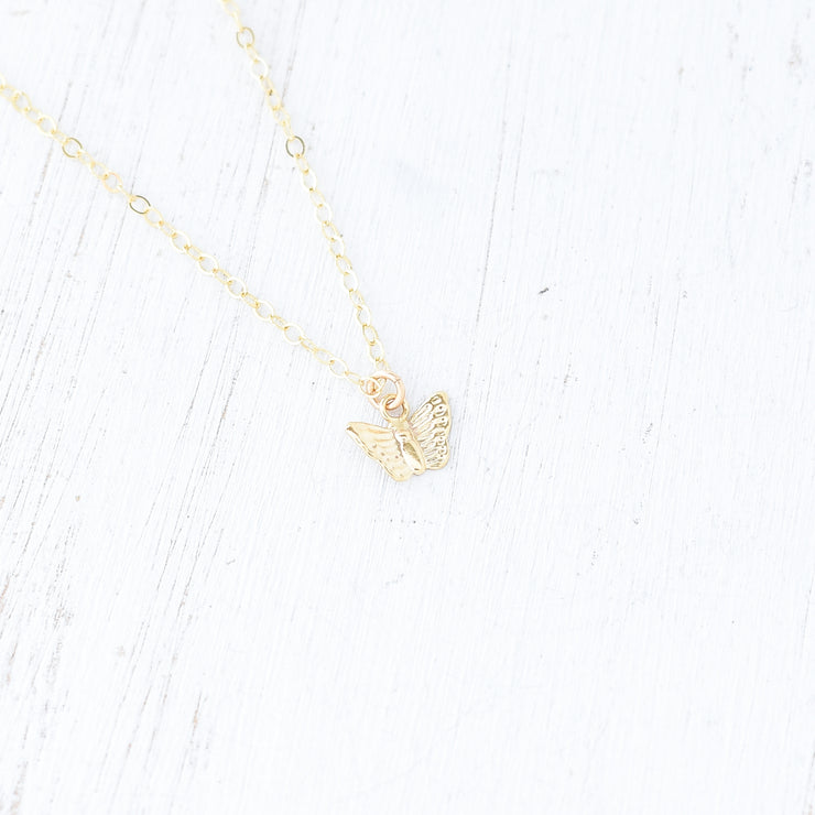 Tiny Butterfly Necklace - Yay Hawaii