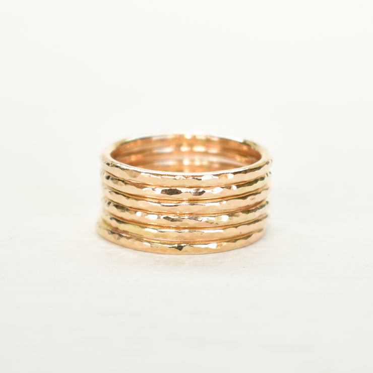 Set (Thick) - Monstera and Stacking Rings - Yay Hawaii