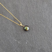 Black Pearl Floating Necklace - Yay Hawaii