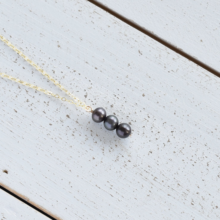 6mm Vertical Pearl Necklace - Yay Hawaii