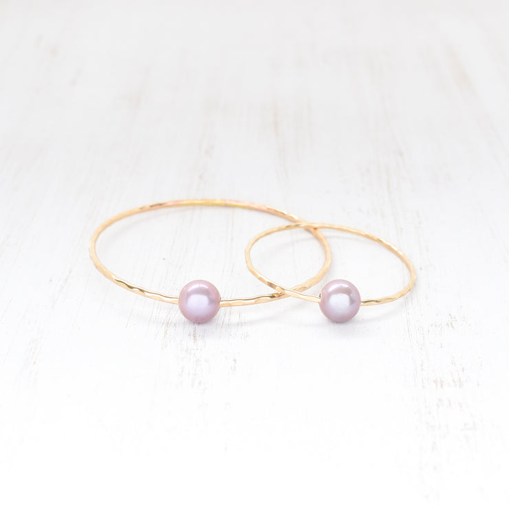 (Keiki) Purple Edison Pearl Bangle - Yay Hawaii
