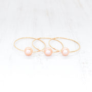 (Keiki) Peachy Pink Edison Pearl Bangle - Yay Hawaii