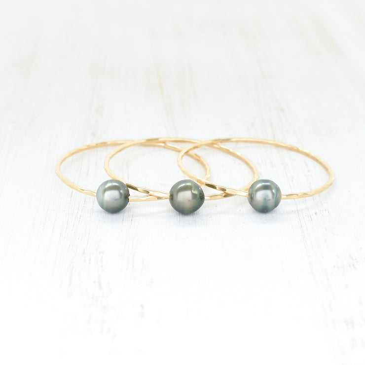(Keiki) Baroque Tahitian Pearl Bangle - Yay Hawaii