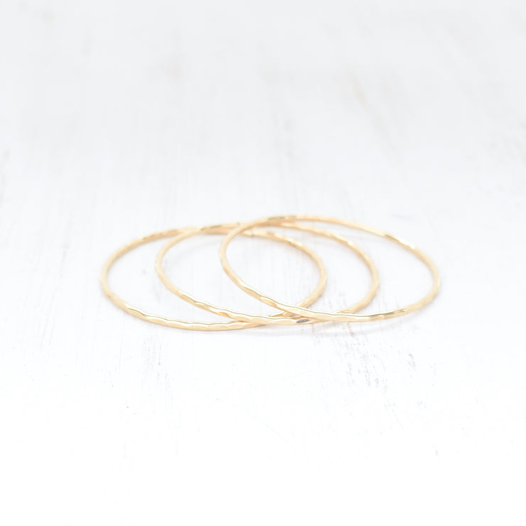 (Keiki) Plain Hammered Bangle - Yay Hawaii