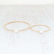 (Keiki) White Pearl Bangle - Yay Hawaii
