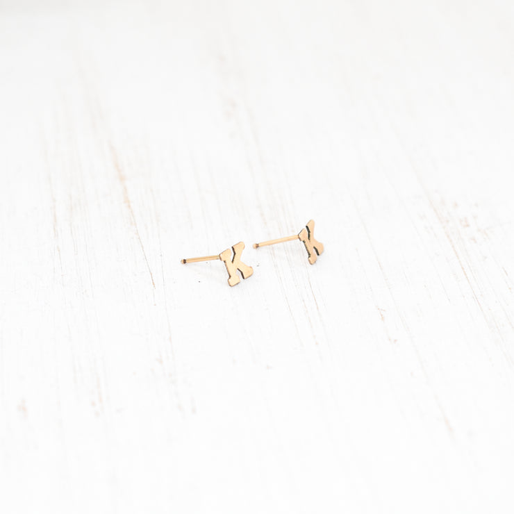 Initial Letter Stud Earrings - Yay Hawaii