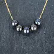 Black Freshwater Floater Necklace - Yay Hawaii