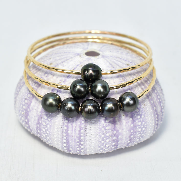 Ho'onani - Set of Tahitian Pearl Bangles - Yay Hawaii