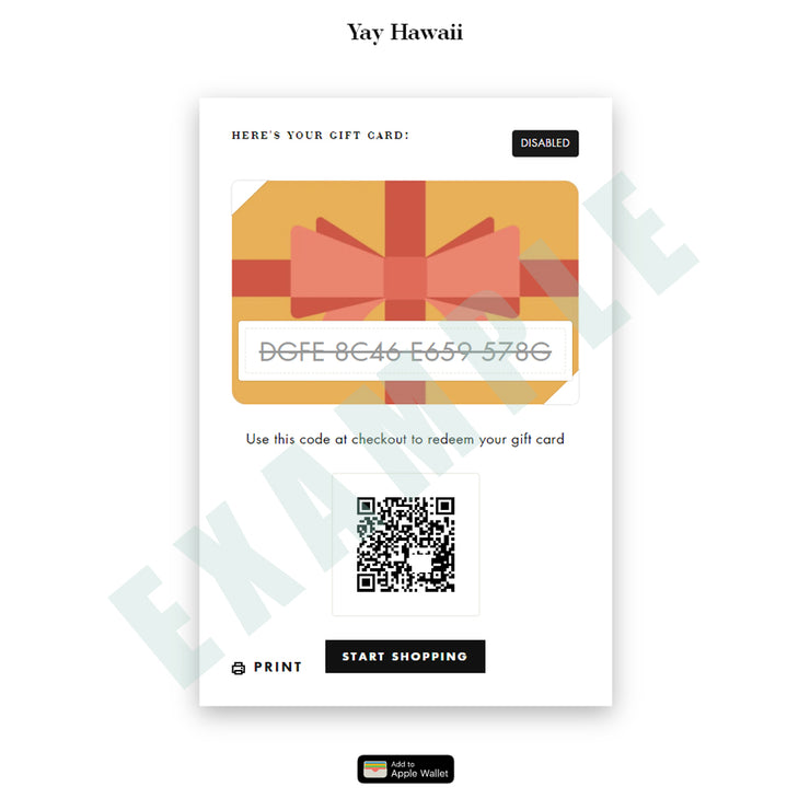 (DIGITAL) Yay Hawaii Gift Card - Yay Hawaii