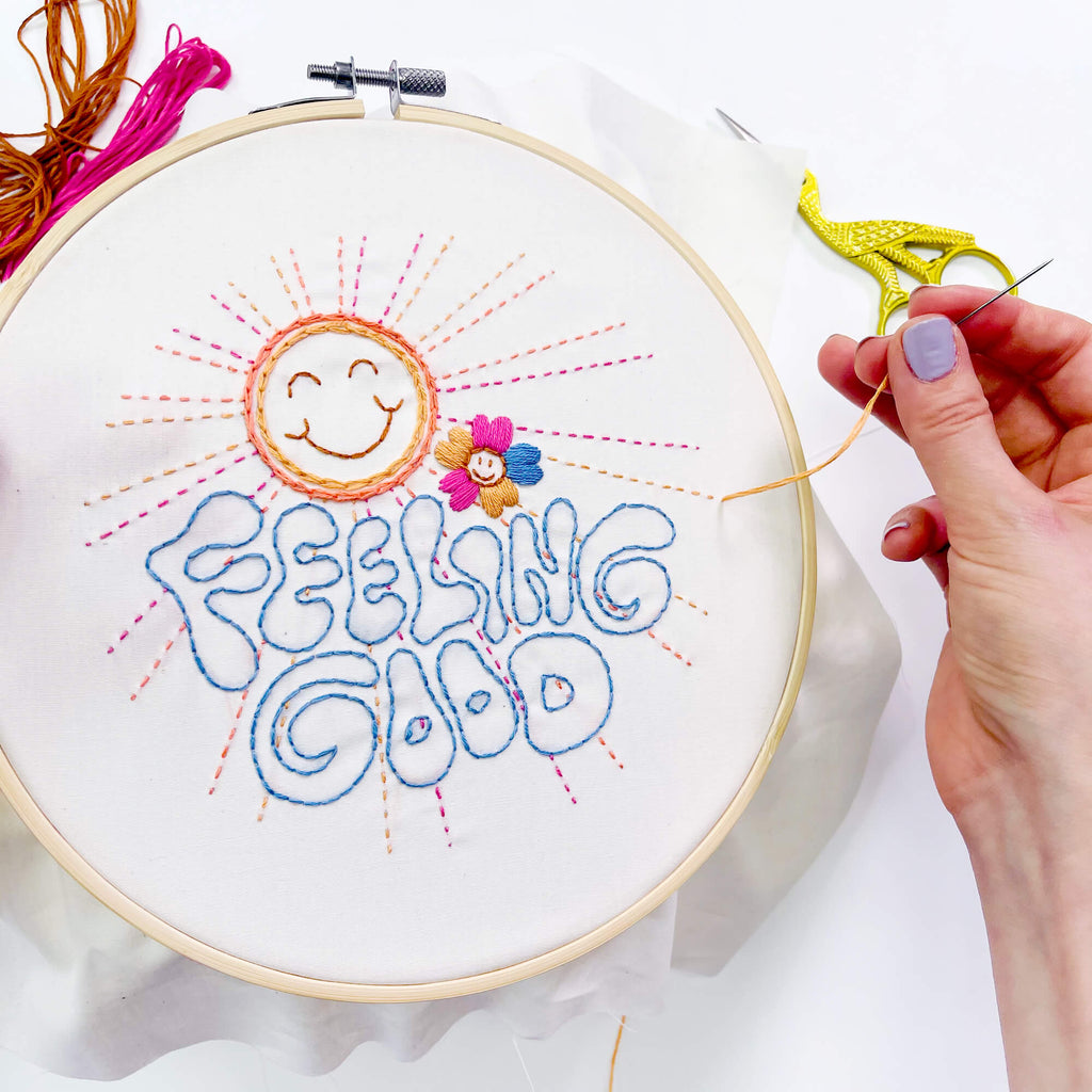 feeling good embroidery of the month